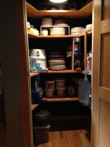 Leading to a much more organized, downsized pantry